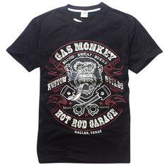 590deee3 2016 Fashion New Summer gas monkey garage dallas texas T-shirts Men Hip Hop  Top Tees T Shirts Camisetas Blusas Masculinas LOS