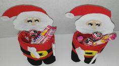 como hacer dulcero de papa noel con botellas de plastico adornos navideñ...