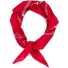 TOPMAN Red Paisley Bandana Neckerchief (125 MXN) ❤ liked on Polyvore featuring men's fashion, men's accessories, accessories, hair, hair accessories, headbands, hats and red