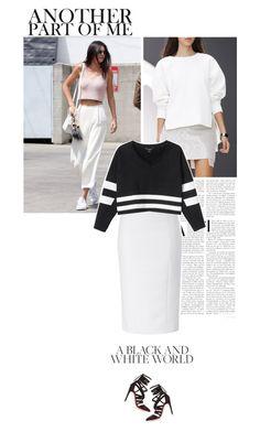 it's very easy. by eve-angermayer on Polyvore featuring polyvore fashion style Monki L'Wren Scott Antonio Berardi clothing blackandwhite eveangermayer angermayerevelin