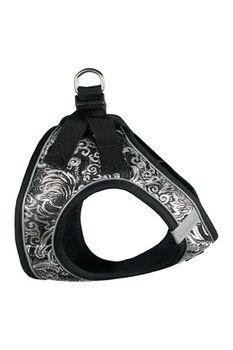 Hip Doggie Black EZ Reflective Royal Elegance Harness Vest