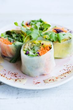 These Fresh Veggie Summer Rolls are a beautifully fresh, crunchy, and delicious vegetable version of the traditional sushi meal!