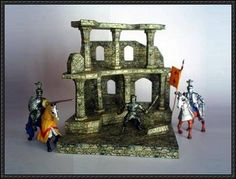Castle Ruins Diorama Free Papercraft Download