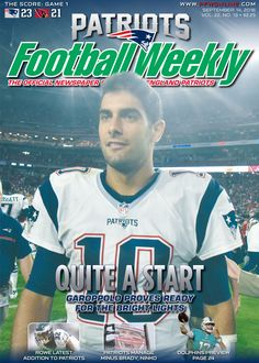 Jimmy G making a great first start! Coming home with a W #Patriots #JimmyG #Patsnation
