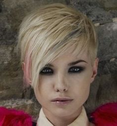 This is the best short hairstyle I've seen in a long time, might have to do this one!!