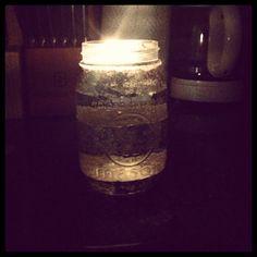 Teacups Shears & Glitter: Glitter stripe mason jar! DIY