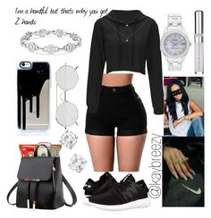 """""""⭐"""" by kaybreezy ❤ liked on Polyvore featuring adidas Originals, Linda Farrow, Rolex and Chantecaille"""
