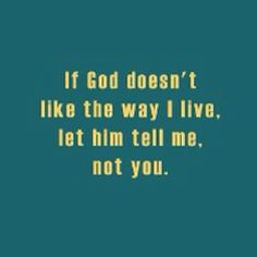 Must remember this the next time someone starts their gospel preaching at me....