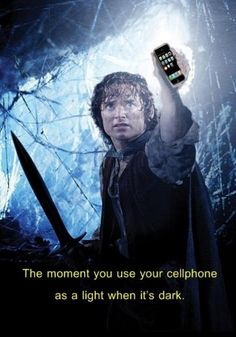 Using Your Cellphone in the Dark  Check out more funny pics at killthehydra.com
