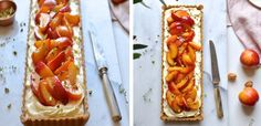 Nectarine tart with thyme and honey butter drizzle | Food24