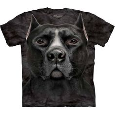 The Mountain BLACK PIT BULL HEAD T-Shirt S-3XL Rescue Dog Face Tee NEW! #TheMountain #GraphicTee