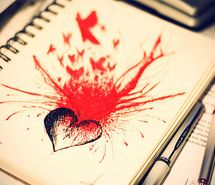 Inspiring picture art, birds, blood, bood, book, broken heart. Resolution: 500x331 px. Find the picture to your taste!