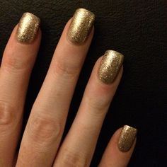 Nails done ready for Christmas! #nails #opi #goldnails #gold #christmasnails