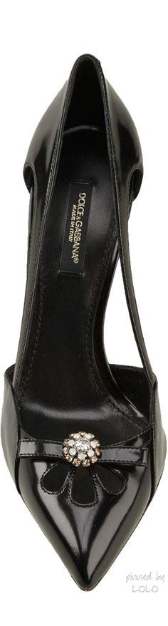 "Dolce & Gabbana ~ ""belucci K' Black Suede Pump"