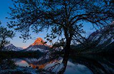 Day 38, Two Medicine Lake, by Glacier Park Magazine editor Chris Peterson. http://www.glacierparkmagazine.com/100Days/100daysinglaciernationalpark.html