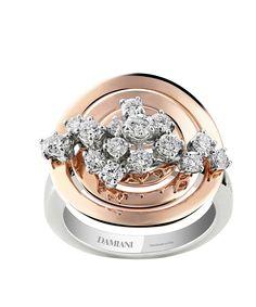 Damiani. SOPHIA LOREN. WHITE, PINK GOLD AND DIAMOND (ct 0.89) RING