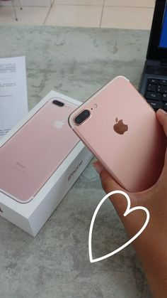 7, iphone, and rose gold image