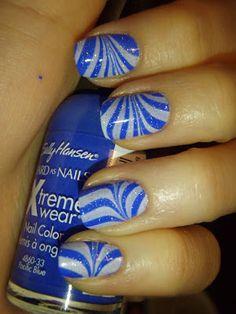 Adventures In Acetone: Zebra Water Marble Nails + Tutorial!
