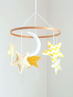 tinkle tinkle little star: Nursery Mobile by birdynumnumDesign Star Nursery, Nursery Decor, Little Star, Little Ones, Felt Mobile, Everything Baby, Creations, Baby Shower, Gifts
