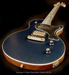 Nik Huber Krautster II Guitar in Worn Petrol Blue