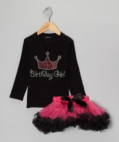 A sweet ensemble for a special girl, these dazzling threads celebrate a darling's birthday with a blingy rhinestone crown tee and colorful pettiskirt. Boasting a comfy silhouette, these twirl-ready pieces are sure to be an instant fave!