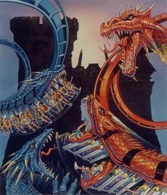 amazing conceptual fantasy art!!!! Dueling Dragons, Lost Continent, Islands of Adventure, Universal Orlando