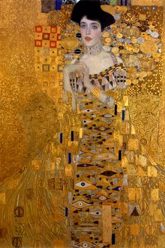 Portrait of Adele Bloch-Bauer I, 1907, Gustav Klimt. Private collection