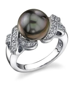 10mm Tahitian Cultured Pearl Lisa Ring. All of our Tahitian Pearls are imported directly from the source, the pearl farms in Tahiti. This ring is comprised of the highest quality .925 sterling silver. Only the most elegant jewelry boxes are used to package and ship our rings, ensuring the most beautiful presentation possible. Additionally, all products are accompanied with a genuine cultured pearl guarantee, verifying the quality and source of the pearls. To guarantee your complete and…