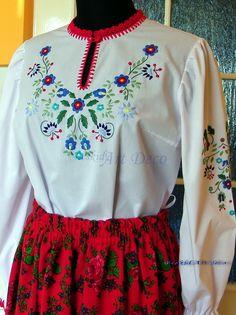 Bluzka damska ręcznie haftowana JT 1 Beskid Art Deco - Rękodzieło artystyczne i ludowe, wyroby regionalne