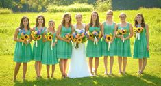 I like these bridesmaid dresses . . .Casual but nice