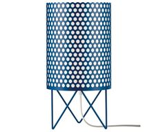 This cylindrical table lamp is made of perforated metal and is available in four colors. Also available as another type of table lamp, a floor lamp and pendant lamps. Small Accent Chairs, Accent Chairs For Living Room, Outdoor Dining Chair Cushions, Upholstered Dining Chairs, Contemporary Furniture, Contemporary Design, La Pedrera, Perforated Metal, Bar Chairs