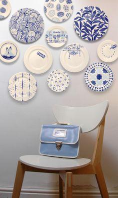 Roelofs & Rubens plates blue, white ceramic