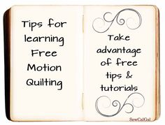 !Insights From SewCalGal: Tips for Learning Free Motion Quilting: Free Tips & Tutorials