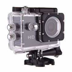 camara x300 negra tipo go pro contra agua con pantalla lcd