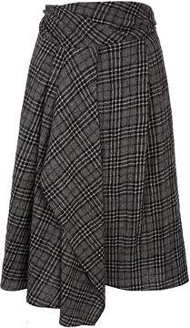 ShopStyle.co.uk: Crea Concept Grey Tartan Drape Skirt £205.00