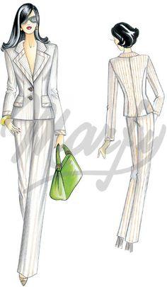 Model 2413 | Sewing Pattern Jackets / Shrugs