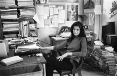 Great Tumblr showing writers working..in this case it's Susan Sontag