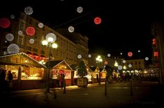 Chrismas market shops by Back-slowly catching... - Autumn Nights & Christmas Lights