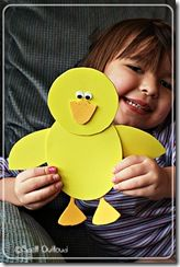 Duck craft and other duck themed activities and printables