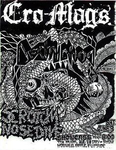 Cro-Mags punk hardcore flyer