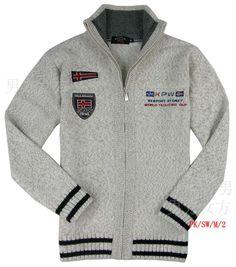 paul & shark shark sweater men's warm stand-up collar full zip wool sweater - www.9channel.com - TaoBaoProduct