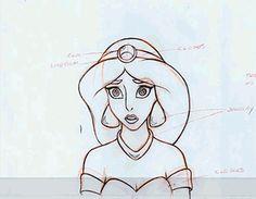 Mark Henn's charming pencil test of Jasmine. | 12 Mesmerizing Disney Pencil GIFs That Will Make You Miss 2D Animation
