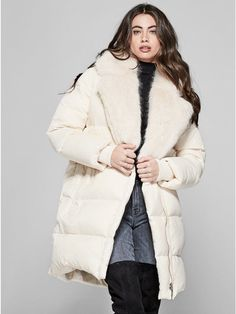 GUESS by Marciano Women's Halley Puffer Coat #Affiliate Link