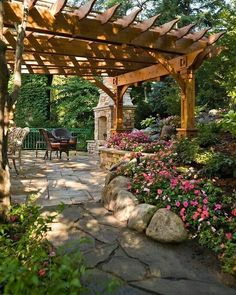 The wooden pergola is a good solution to add beauty to your garden. If you are not ready to spend thousands of dollars for building a cozy pergola then you may devise new strategies of trying out something different so that you can re Wooden Pergola, Backyard Pergola, Pergola Plans, Pergola Kits, Backyard Landscaping, Pergola Ideas, Patio Ideas, Pergola Roof, Cheap Pergola