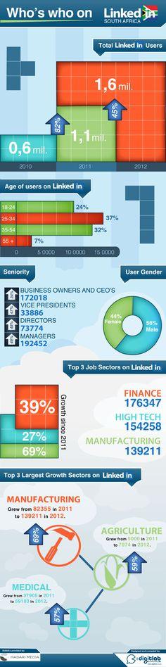 Quien es quien en Linkedin South Africa #infographic