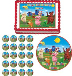 WordWorld Word World Edible image cake and cupcake toppers