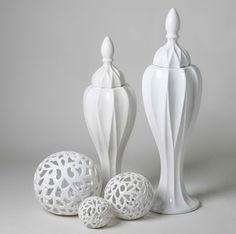 特惠2908 白色陶瓷高藤圆球新古典 包邮家居饰品创意摆件工艺品S-