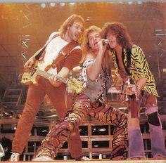 Eddie Van Halen ❤️ Michael Anthony and David Lee Roth 1984
