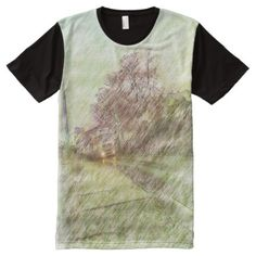 Vehicle drawing effect All-Over-Print T-Shirt - tap, personalize, buy right now!