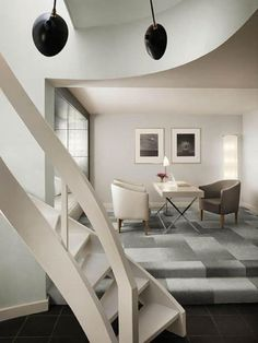 Andree Putman Morgans Hotel New York Interior Stairs, Best Interior, Interior Design, Architecture Design, Nyc Hotels, Hotel Interiors, Staircase Design, Home And Living, Furniture
